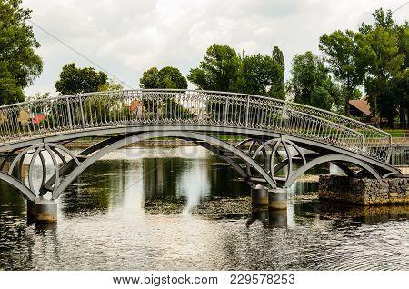 Footbridge In A Public Park Of City Kremenchug, Ukraine