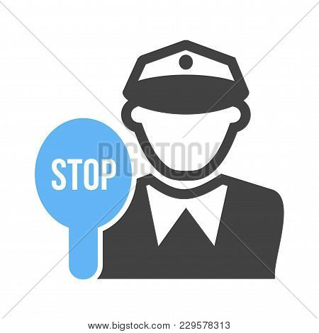 Police, Traffic, Cop Icon Vector Image. Can Also Be Used For Professionals. Suitable For Web Apps, M