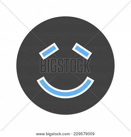 Shy, Person, Expression Icon Vector Image. Can Also Be Used For Emotions And Smileys. Suitable For M