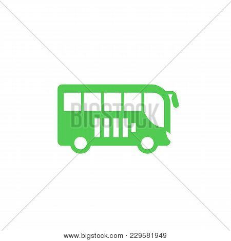 Electric Bus Icon, Side View, Eps 10 File, Easy To Edit