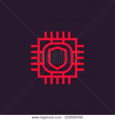 Cryptography Icon, Eps 10 File, Easy To Edit