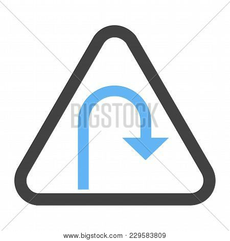 Turn, Road, Sign Icon Vector Image. Can Also Be Used For Traffic Signs. Suitable For Web Apps, Mobil