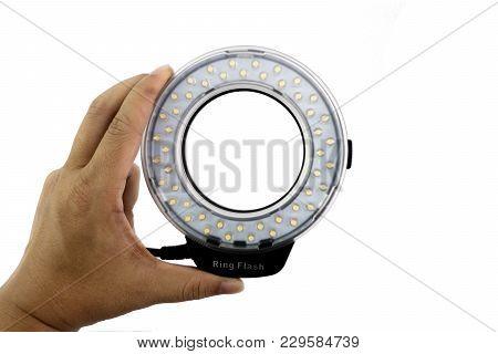 Led Macro Ring In Man Hand