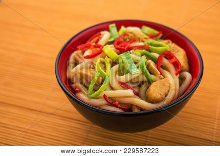 Udon Noodles With Red Chilli Pepper