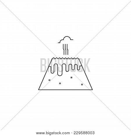 Volcano Vector Thin Vector & Photo (Free Trial) | Bigstock
