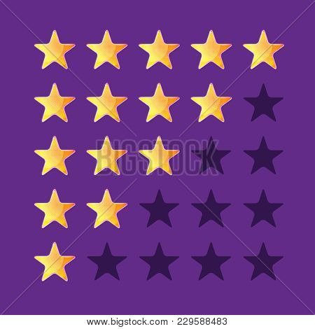 Star Ratings, Element For Web Design, Rate, Isolated, Five