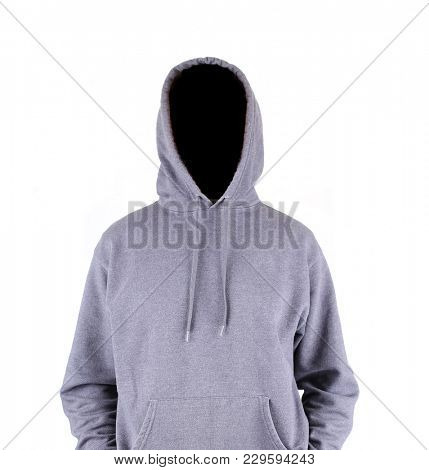 mock up of a hoodie jacket on isolated on a white background
