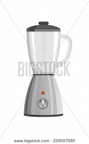 Modern Powerful Blender With Speed Regulation And Capacious Vessel With Black Top. Electric Applianc