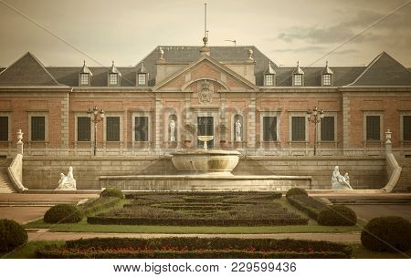Barcelona,spain-october 12,2014: Palace Albeniz And Gardens Joan Maragall, Park Montjuic. Palace Was