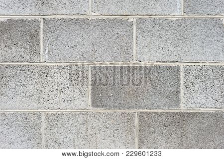 The Texture Of The Wall Is The Laying Of Expanded Clay Blocks. Background For The Advertisement Of B