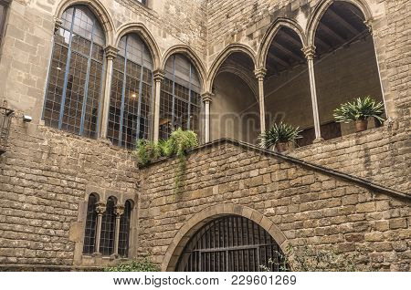 Barcelona,spain-may 26,2014: Palace, Palau Requesens, Gothic Style, Gothic Quarter, Barcelona.