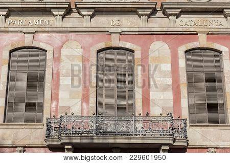 Barcelona,spain-march 16,2014: Palace Parliament,palau Parlament Catalunya,park,parc De La Ciutadell