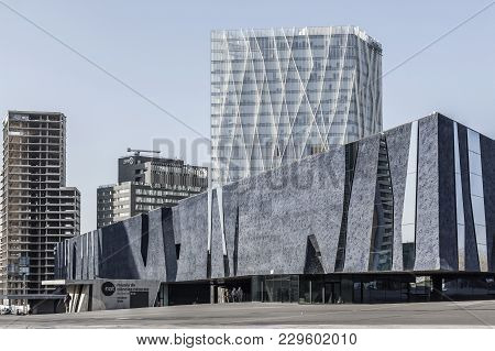 Barcelona,spain-march 13,2014: Modern Architecture, Forum Building- Museu Blau, Museum, Designed By