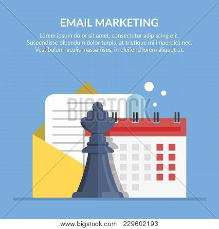 Email Marketing. Advertising Mailing By Mail. Concept Illustration With A Picture Of Document In An