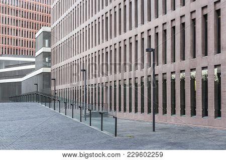 Barcelon,spain-november 10,2013: Modern Architecture, Ciutat De La Justicia De Barcelona I Hospitale