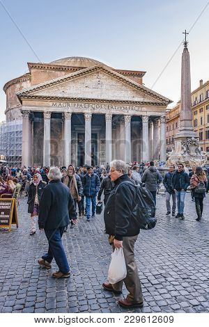 Pantheon Exterior View, Rome, Italy