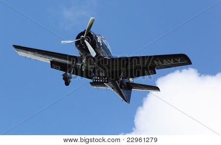 PILSEN, CZECH REPUBLIC - AUGUST 28: Historic american training plane T28 Trojan Air Bear, Pilsen Aeronautical Days on August 28, 2011 in Pilsen.