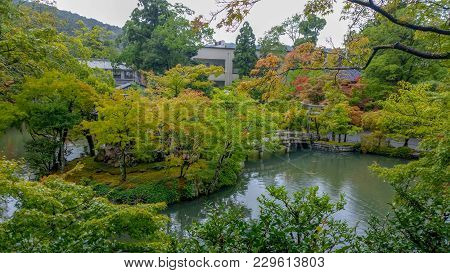 Kyoto, Japan, August 15, 2017: The Japanese Garden Is One Of The Most Popular And Fashionable Areas