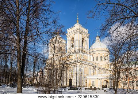 Holy Trinity Cathedral In The Alexander Nevsky Lavra, St. Petersburg, Russia