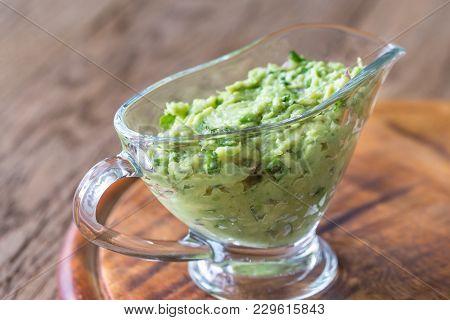 Guacamole In Glass Gravy-boat