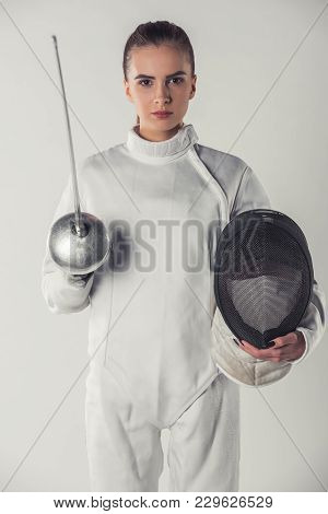 Attractive Female Fencer