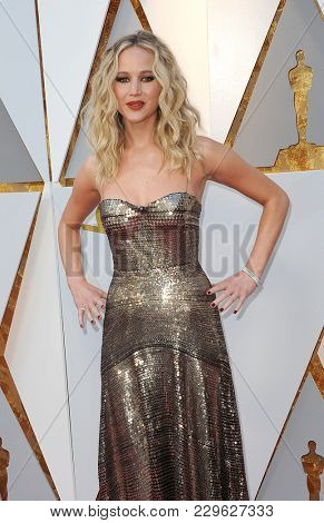 Jennifer Lawrence at the 90th Annual Academy Awards held at the Dolby Theatre in Hollywood, USA on March 4, 2018.