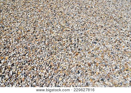 Quarrying Of Gravel And Sand In A Gravel Pit - Background Pebbles