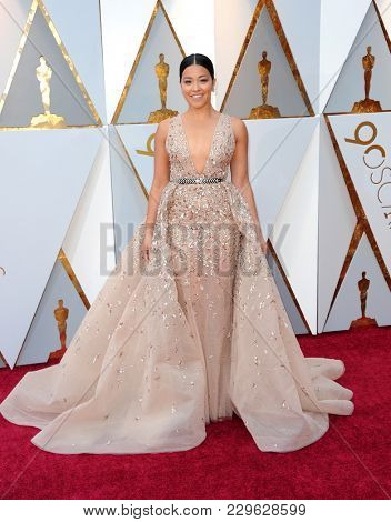 Gina Rodriguez at the 90th Annual Academy Awards held at the Dolby Theatre in Hollywood, USA on March 4, 2018.