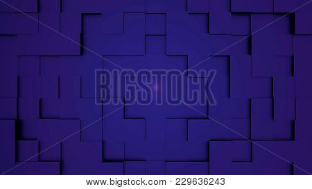 Abstract Cubes Move, 3d Animation. Seamless Looping Abstract Cubes Background. Cubes Are Composed In
