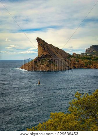 Rock Of The Beak Of The Eagle Above The Sea At La Ciotat