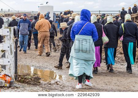Shoppers At Mud Sale