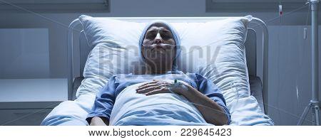 Weak Elderly Woman With Leukemia