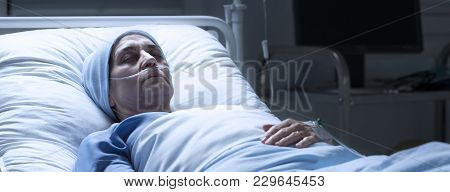 Unwell Sick Woman During Chemotherapy