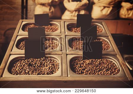Coffee Beans Background (lustiness, Taste, Lifestyle Concept)