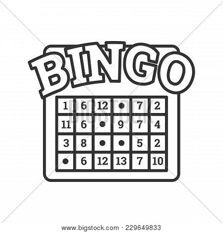 Bingo Game Linear Icon. Lottery. Thin Line Illustration. Casino Contour Symbol. Vector Isolated Outl