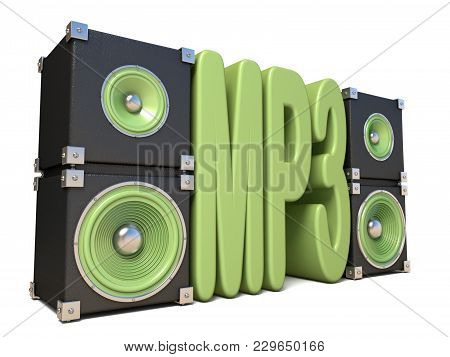 Two Pairs Of Sound Speakers Mp3 3D