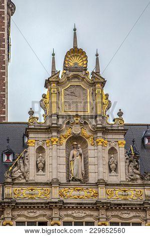 Historic Building On The Grote Markt (main Market) In Leuven, Flemish Brabant, Belgium.