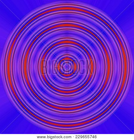 Red Spinning Circles On A Blue Background