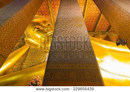 Wat-pho, Bangkok Thailand:- March 3, 2018:-: Wat Pho Or The Official Name Is Wat Pho As The Oldest T