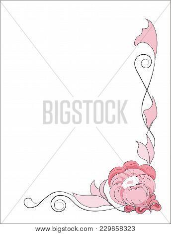 Beautiful Flower Card, Frame, Imagination, Pink, Background