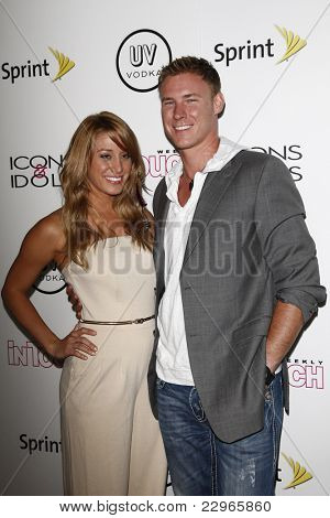 WEST HOLLYWOOD - AUG 28: Vienna Girardi and Kasey Kahl at the 4th annual Icons & Idols party at the Sunset Tower Hotel in West Hollywood, California on August 28, 2011