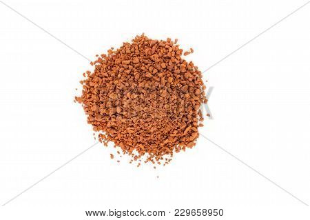 Close-up Of Freeze-dried Coffee On A White Background