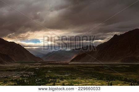 Sunset In Highland Nubra Valley, North India