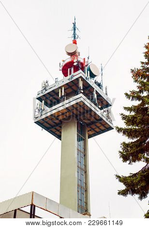 A Large Communication Tower Designed For The Transmission Of Signals Of Mobile Communication, The Vi