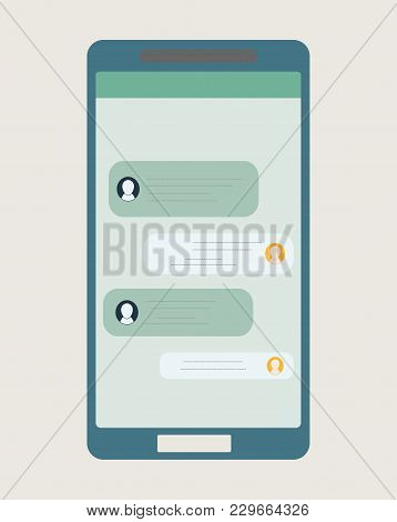 Vector Illustrations Dialogue Chat Social Networking Mobile
