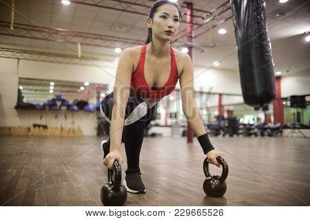 Focused athlete training