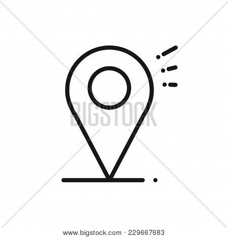 Location Line Icon. Map Pin Pointer Sign And Symbol. Navigation