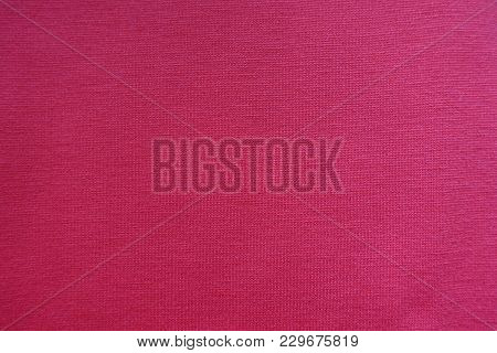 Cerise Jersey Fabric Surface Directly From Above
