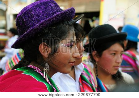 Sucre, Bolivia - 10 September 2011: Fiesta De La Virgen De Guadalupe In Sucre. Young Participants In