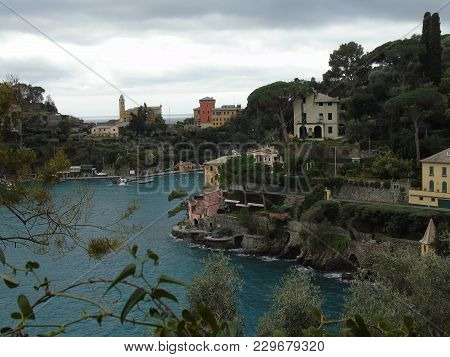 An Incredible View To The Most Famous Places Of Liguria In Winter With A Great View To The Sea And S